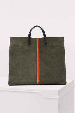 Clare Vivier Leather and sheep totebag