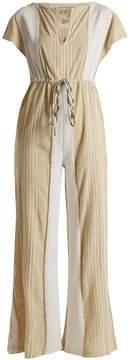 Ace&Jig Suit Up striped cotton-blend jumpsuit