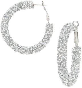 Cezanne Faux-Crystal Rocks Hoop Earrings