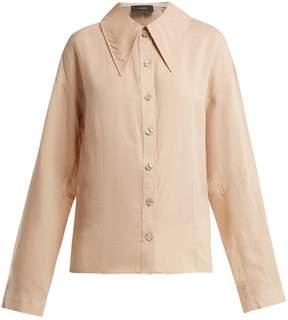 Joseph Ruben exaggerated point-collar linen shirt
