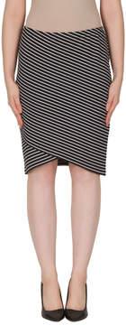 Joseph Ribkoff Striped Tulip Skirt
