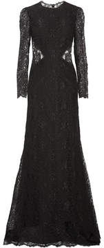 Alexander McQueen Corded Lace Gown - Black