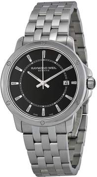 Raymond Weil Tango Black Dial Stainless Steel Men's Watch
