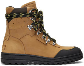 Off-White Tan Hiking Boots