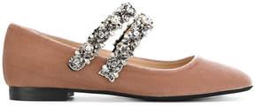 No.21 embellished strap ballerina shoes