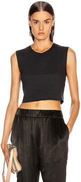 Raquel Allegra Crop Tank in Black | FWRD