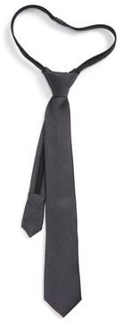 Nordstrom Boy's Solid Silk Zip Tie