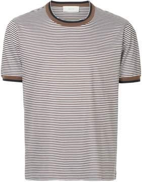 Cerruti striped contrast-trim T-shirt