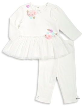 Little Me Baby Girl's Two-Piece Floral Cotton Top and Leggings Set