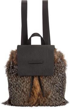 Brunello Cucinelli Fox Fur and Monili Backpack