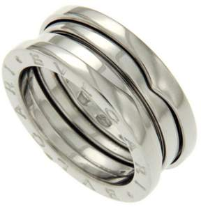 Bulgari B-Zero1 18K White Gold 3 Bands Ring Size 7