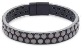 Tateossian Leather Wristband Bracelet