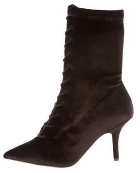 Yeezy Season 5 Velvet Ankle Boots
