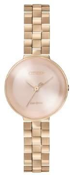 Citizen EW5503-83X Women's L Ambiluna Eco-Drive Rose Gold Dial Rose Gold Steel Bracelet Watch