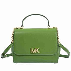 Michael Kors Mott Medium Leather Satchel- True Green - TRUE GREEN - STYLE