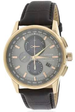 Citizen Men's AT8113-04H Leather Watch, 43mm