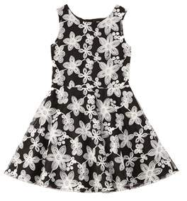 Nanette Lepore Novelty Embroidered Chiffon Dress.