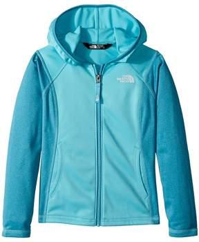 The North Face Kids Tech Glacier Full Zip Hoodie Girl's Sweatshirt