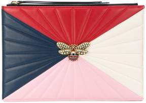 Gucci bee oversized clutch - MULTICOLOUR - STYLE