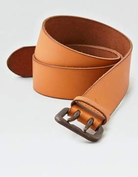 American Eagle Outfitters AE Light Tan Double Prong Belt