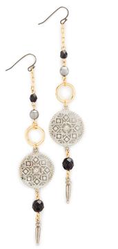 Ben-Amun Circle Drop Fishook Earrings