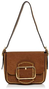 Tory Burch Sawyer Stud Small Suede Shoulder Bag - FESTIVAL BROWN/GOLD - STYLE