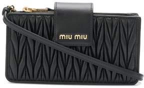 Miu Miu logo quilted crossbody bag