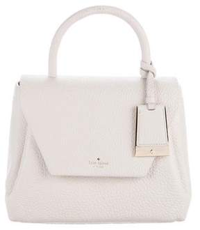 Kate Spade Grained Leather Satchel - WHITE - STYLE