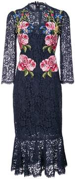 Dolce & Gabbana floral embroidered lace midi dress