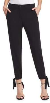 Halston Slim Fit Ankle Tie Pants