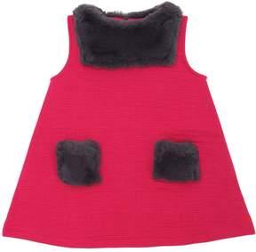 Sonia Rykiel Textured Jersey & Faux Fur Dress