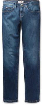 Loro Piana Tasche Slim-Fit Washed Stretch-Denim Jeans