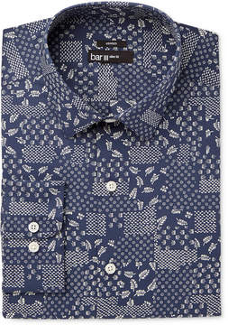 Bar III Men's Slim-Fit Stretch Easy Care Patchwork Print Dress Shirt, Created for Macy's