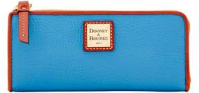 Dooney & Bourke Pebble Grain Zip Clutch Wallet - AZURE - STYLE