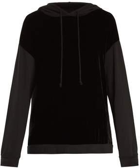 Velvet by Graham & Spencer Alex velvet-panel hooded sweatshirt