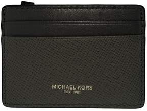 Michael Kors Women's Harrison Credit Card Leather Wallet Baguette - Grey - GREY - STYLE