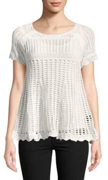 Context Crochet Raglan-Sleeve Top