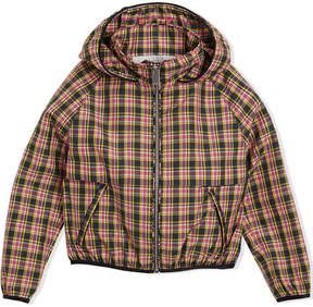 Burberry Check Hooded Bomber Jacket
