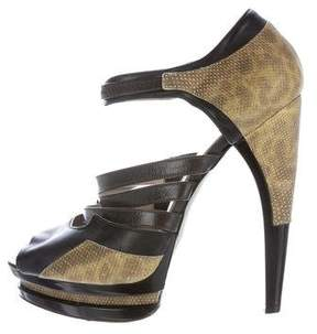 Jason Wu Leather Platform Sandals