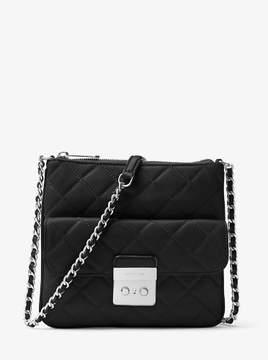 Michael Kors Sloan Medium Quilted-Leather Crossbody Bag - Black - 30F6ASLM2L-001 - BLACK - STYLE
