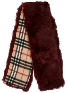 Burberry Fur-Accented Cashmere Stole