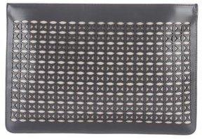 Alaia Laser Cut Zip Clutch