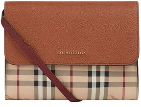 Burberry Small Loxley Leather and Haymarket Check Cross Body Bag - BEIGE - STYLE
