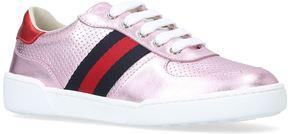 Gucci Metallic Web Stripe Sneakers