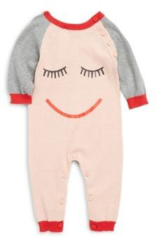 Stella McCartney Baby's Sleeping Face Print Coverall