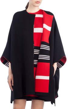 Akris Reversible Knit Cashmere Cape