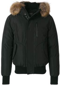 Mackage bomber jacket with raccoon fur hood