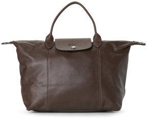Longchamp Brown Le Pliage Leather Satchel - BROWN - STYLE