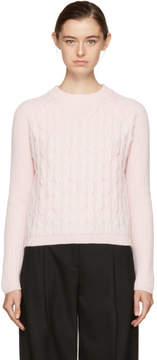 Carven Pink Cropped Wool Sweater