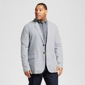 Merona Men's Big & Tall Seersucker Blazer Blue